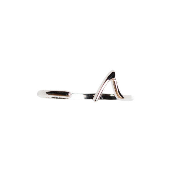 Sterling Silver Shark Fin Ring - Sand Cloud