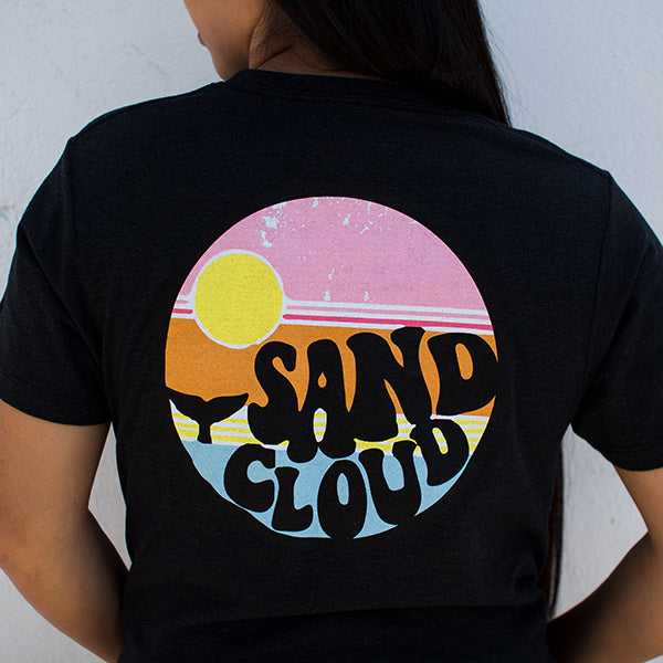 Recycled Short Sleeve Carbon Grey Retro Sand Cloud - Sand Cloud