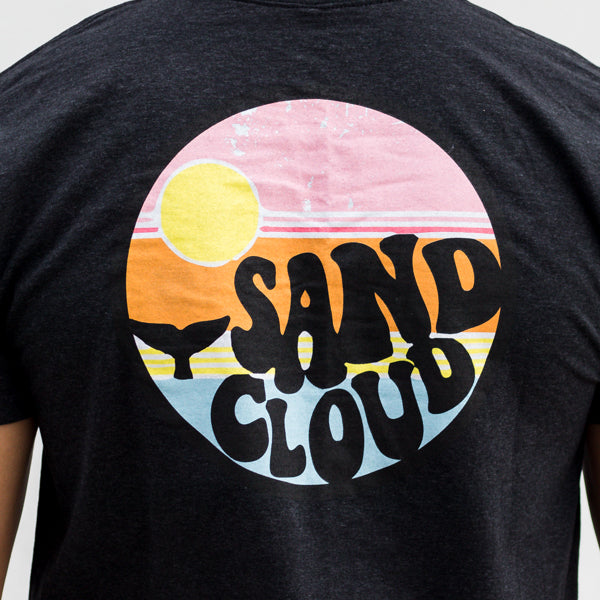Carbon Grey Retro Sand Cloud Men's Short Sleeve Recycled - Sand Cloud