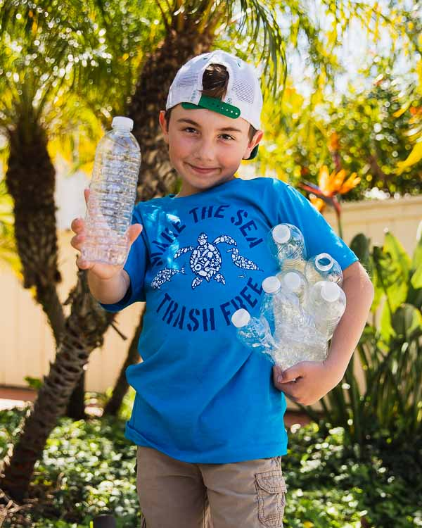 Make The Sea Trash Free Eco Kids Tee
