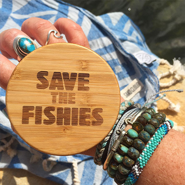 Save The Fishies Water Bottle - Sand Cloud