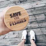 Save The Fishies Water Bottle