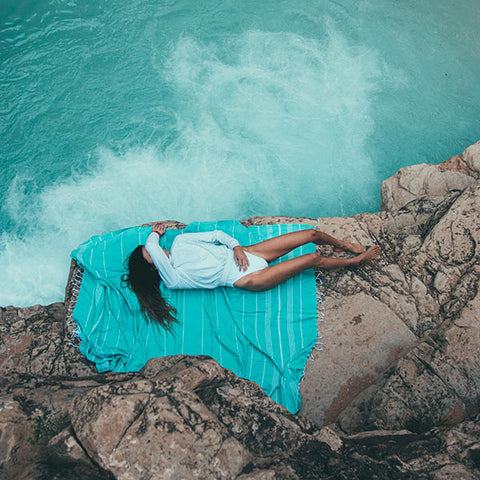 Seafoam XL Pocket Beach Blanket