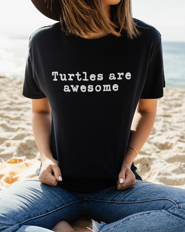 Turtles are Awesome Eco Tee Black
