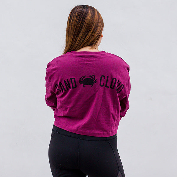Vineyard Sand Cloud Crab Long Sleeve Crop Top Recycled - Sand Cloud