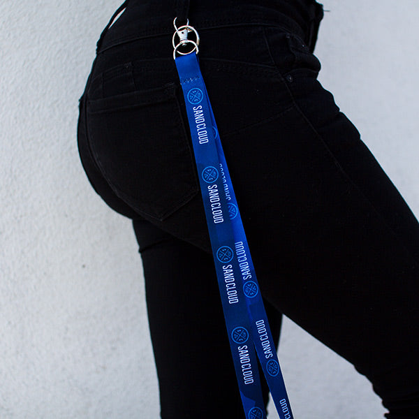 Sand Cloud Blue Acid Wash Lanyard - Sand Cloud
