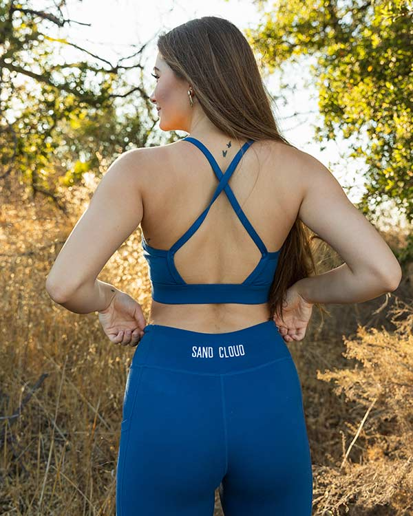 Blue Eco Fashion Sport Bra