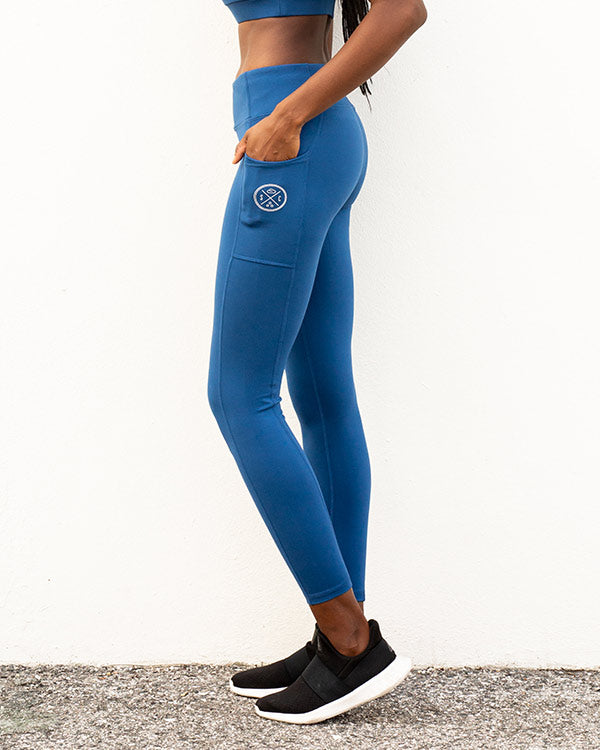 Blue Eco Pocket Leggings