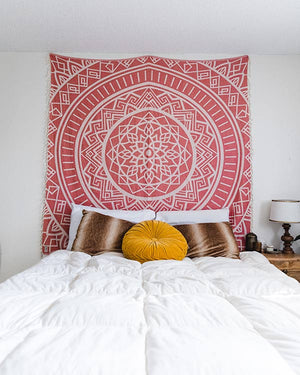 Cool Coral Mandala XL Towel