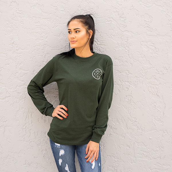 Sea Turtle Forest Green Long Sleeve - Sand Cloud
