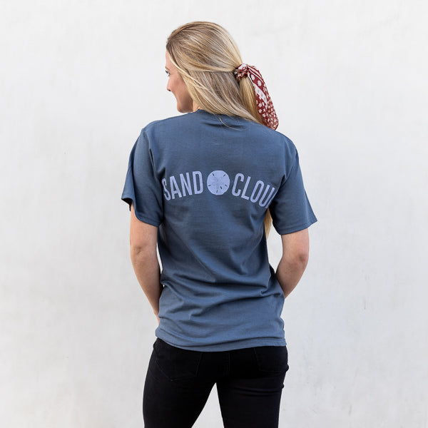 Steel Blue Sand Dollar Tee