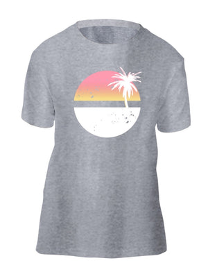 Sunrise Palm Tree Eco Kids Tee