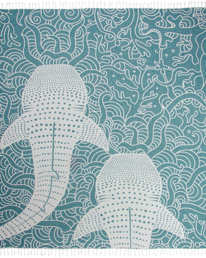 Whale Shark XL Towel Turquoise