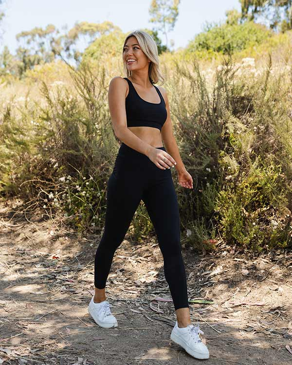 Black Eco High Waist Leggings