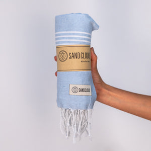 Light Blue Classic Stripes Recycled Towel