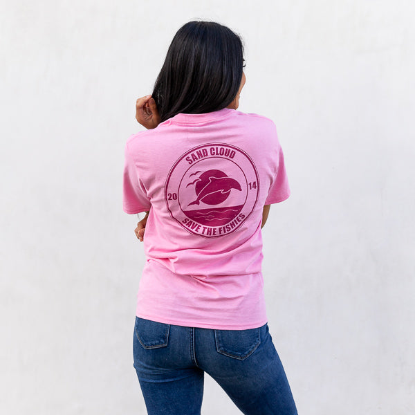 Candy Pink Vintage Dolphin Tee