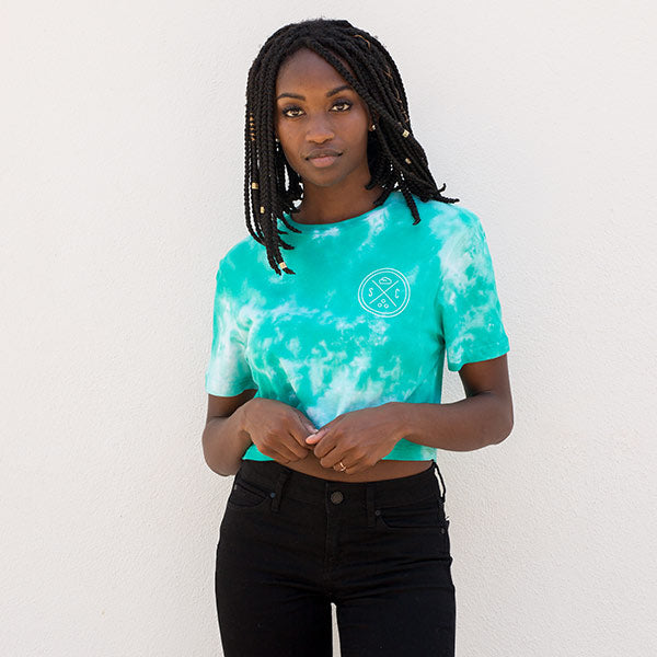 Seafoam Acid Wash Whale Tail Crop Top - Sand Cloud