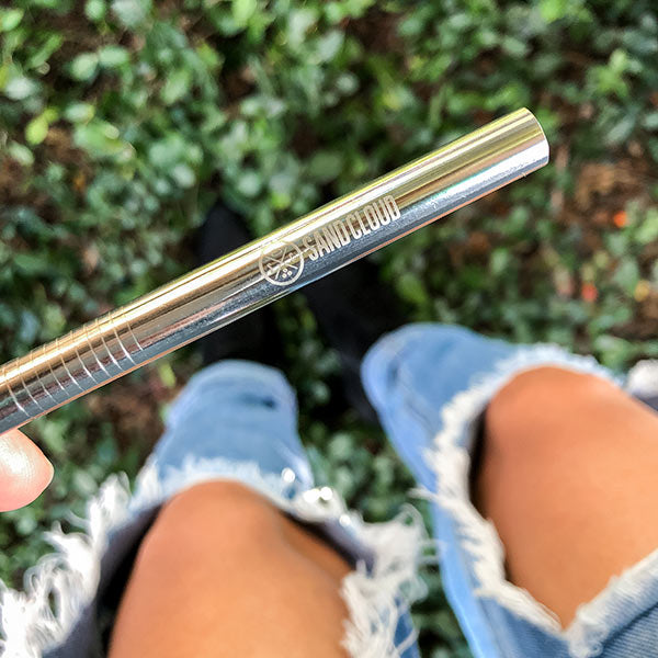 Silver Metal Straw