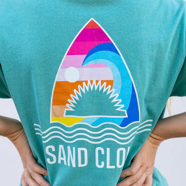 Seafoam Rainbow Shark Short Sleeve Recycled - Sand Cloud