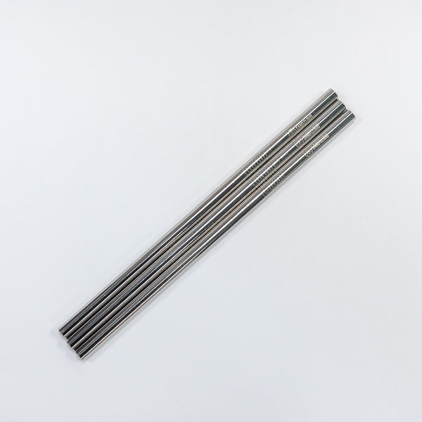 Silver Metal Straw - 3 Pack