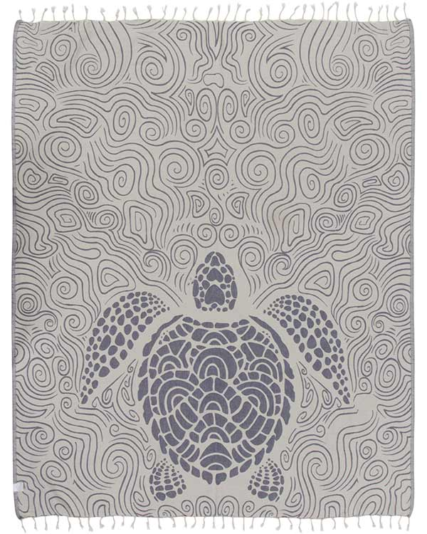 Swirl Turtle Large Towel