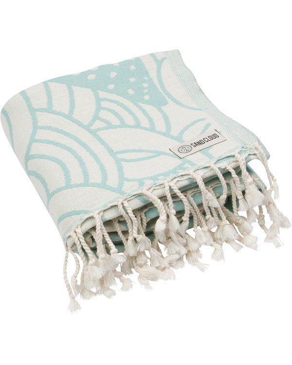 Whale Shark Mint Towel