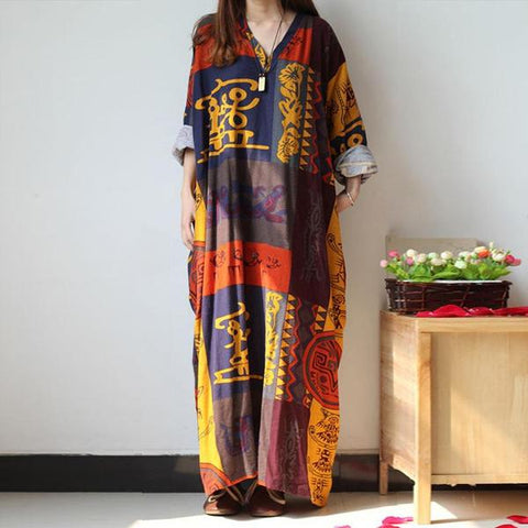 Chinese Legends Plus Size Kaftan