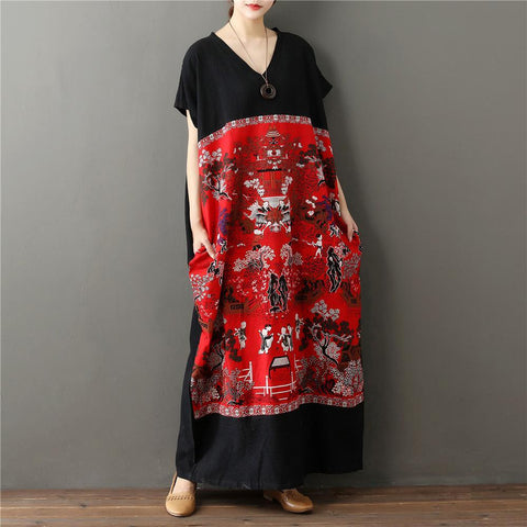 Chinese Art Maxi Dress