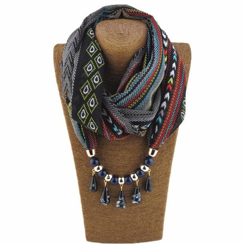 Beaded Scarf Necklaces