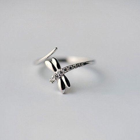 Buddha Trends 925 Sterling Silber Libelle Ring