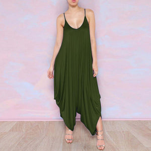 Buddha Trends Army Green / XS Plus Size Flowy Harem Φόρμες