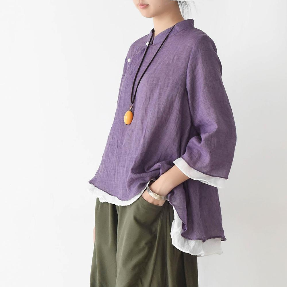 Asia Inspired Cotton Blouse  | Zen
