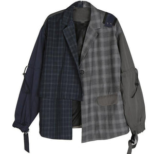 Asymmetrical Plaid Jacket | Millennials