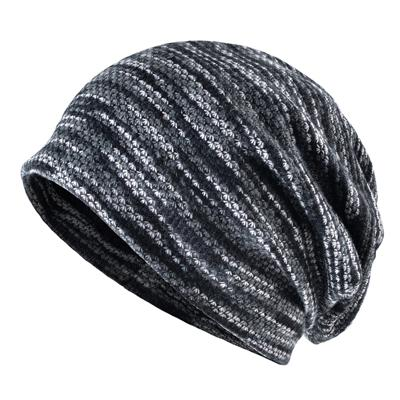 Buddha Trends Beanie Hats Grey Knitted Slouchy Beanies