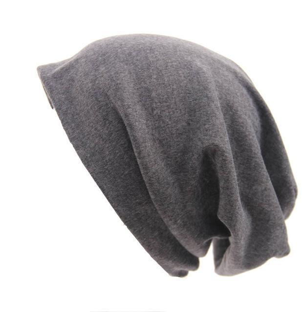 Buddha Trends Beanie Hats Berretto casual grigio Slouch Fit