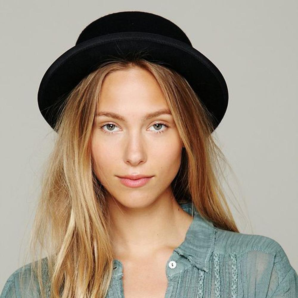 Buddha Trends Black Grunge Flat Boater Style Hat
