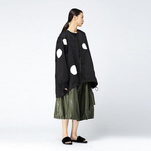 Buddha Trends Schwarz / One Size Polka Dot Windjacke | Millennials