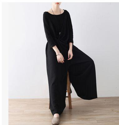 Wide Leg Cotton and Linen Overall