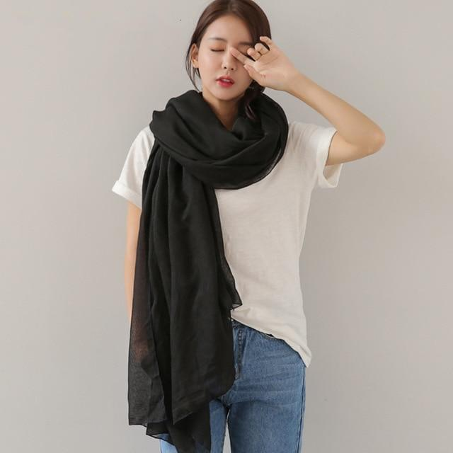 Buddha Trends μαύρα Pure Colors Oversized Shawls