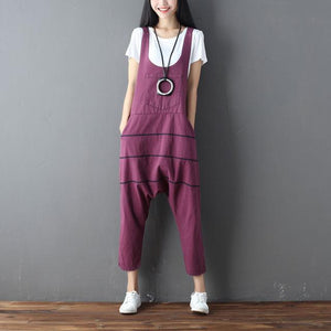 Buddha Trends Burgundy / One Size Low Crotch Loose Denim Συνολικά
