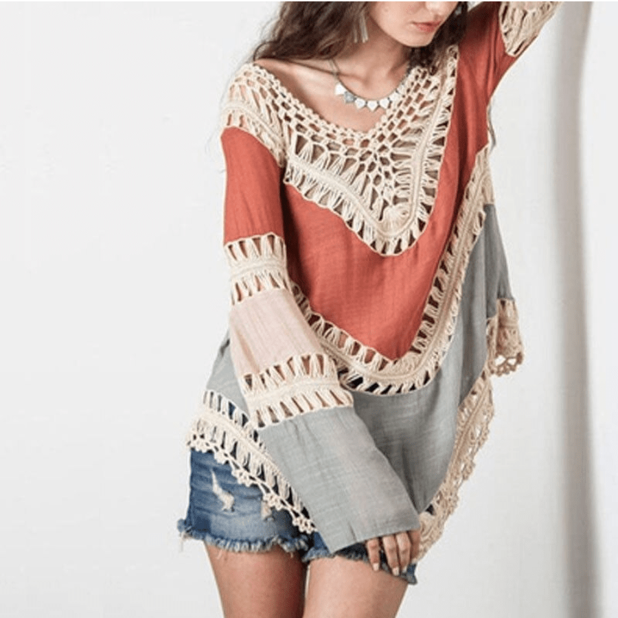 Boho Lace Patchwork Shirt