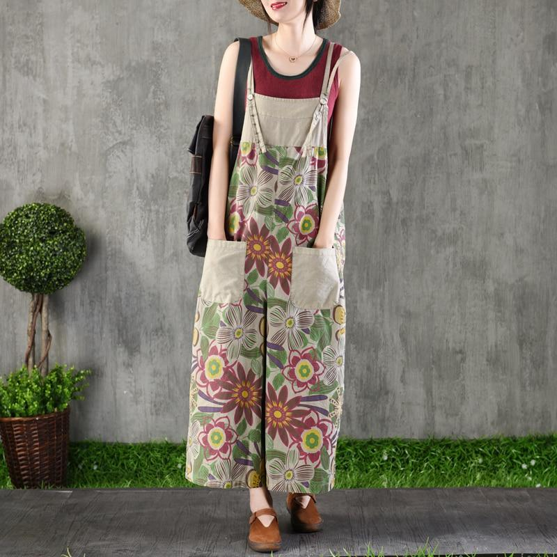 Buddha Trends Campagna Wide Leg Floral Overall