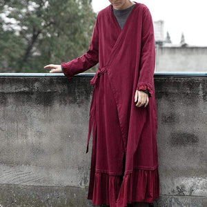 Buddha Trends Cardigans Βαμβακερή Λευκή Ζακέτα