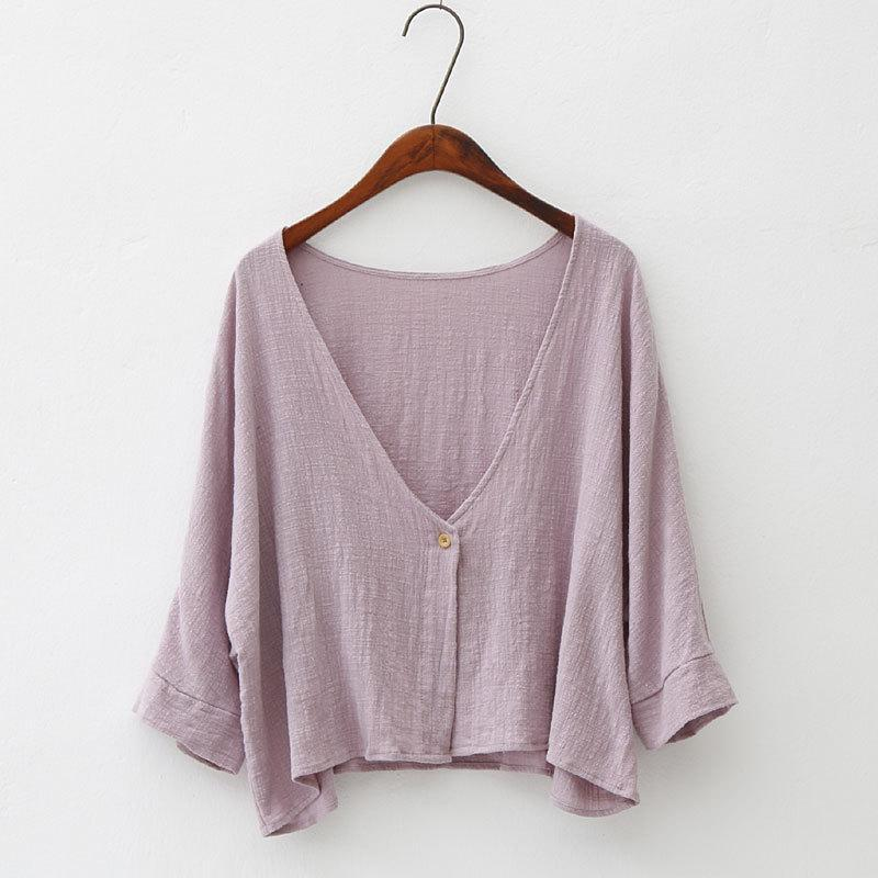 Buddha Trends Cardigans Pink / One Size Soft Bat Sleeve Short Cardigan