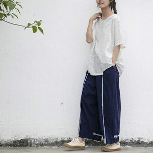 Buddha Trends Casual Wide Leg Linen Pants | Lotus