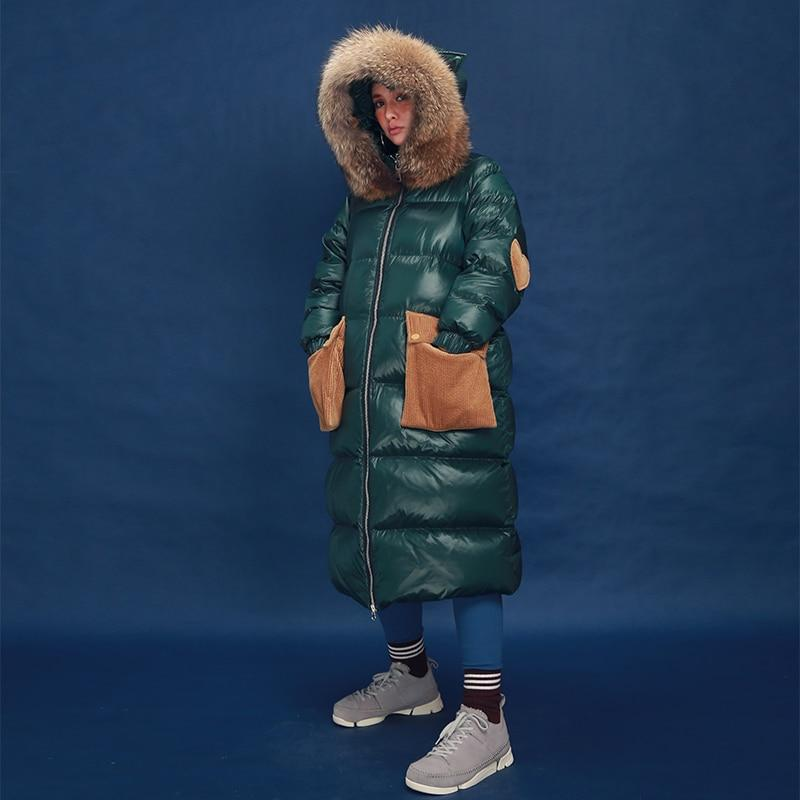 Buddha Trends Coats Green / S Cat Ears Novelty Long Patchwork Parka