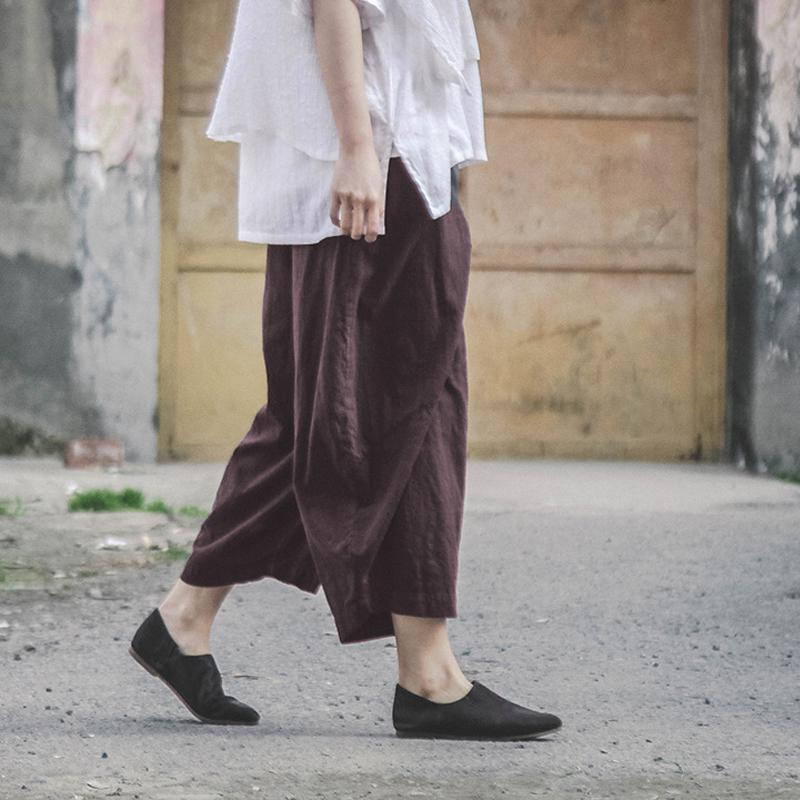 Buddha Trends Casual Zen Linen Pants | Lotus