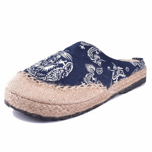 Buddha Trends Dragon Hemp & Cotton Flats