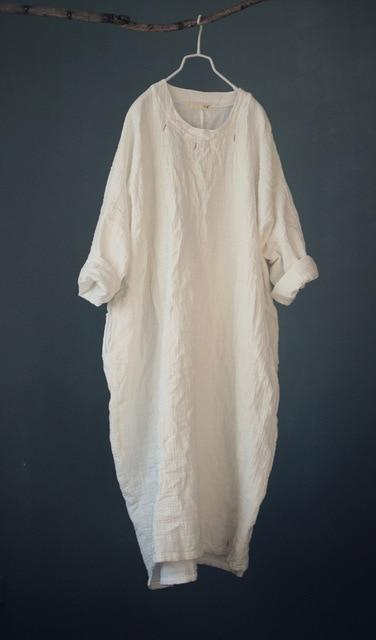 Simply Zen Long Sleeve Linen Dress  | Zen