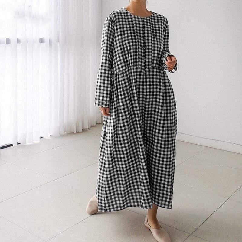 On The Riviera Plaid Maxi Dress